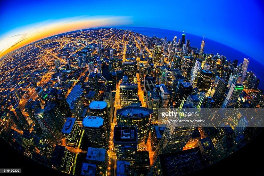 Chicago twilight : Photo
