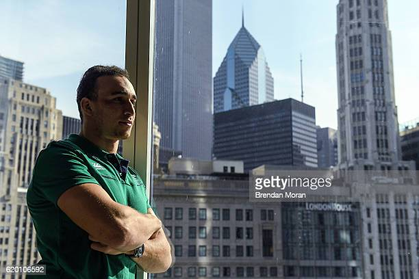 Chicago United States 1 November 2016 Ultan Dillane of Ireland poses for a portrait after an Ireland Rugby Press Conference at Trump International...