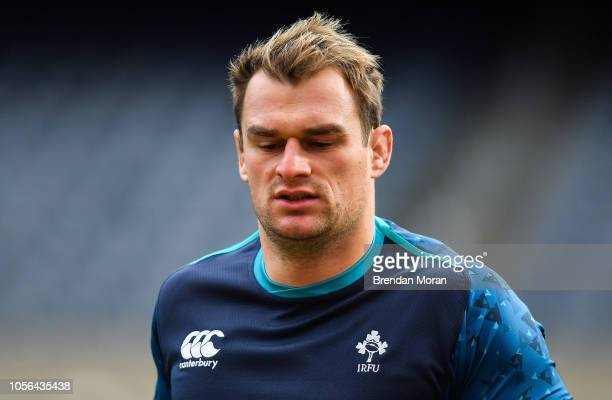 Chicago United States 2 November 2018 Rhys Ruddock during the Ireland rugby captain's run at Soldier Field in Chicago USA