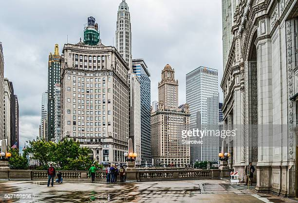 Chicago Urban Cityscape With Office Buildings