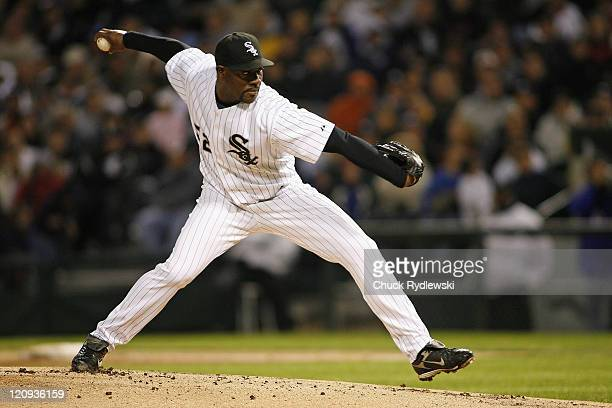 Chicago White Sox' 2nd game Starter Jose Contreras pitches during their game versus the New York Yankees May 16 2007 at US Cellular Field in Chicago...
