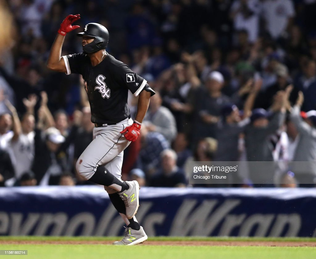 Eloy Jimenez in the Home Run Derby? The time is going to come. For now, hes rooting for Vladimir Guerrero Jr. : News Photo