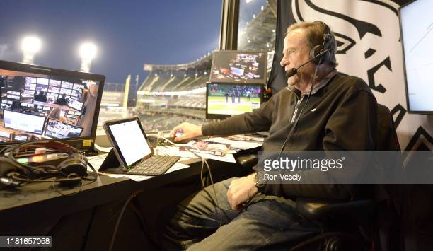 Chicago White Sox color analyst Steve Stone looks on prior to broadcasting the game against the Cleveland Indians on September 24, 2019 at Guaranteed...