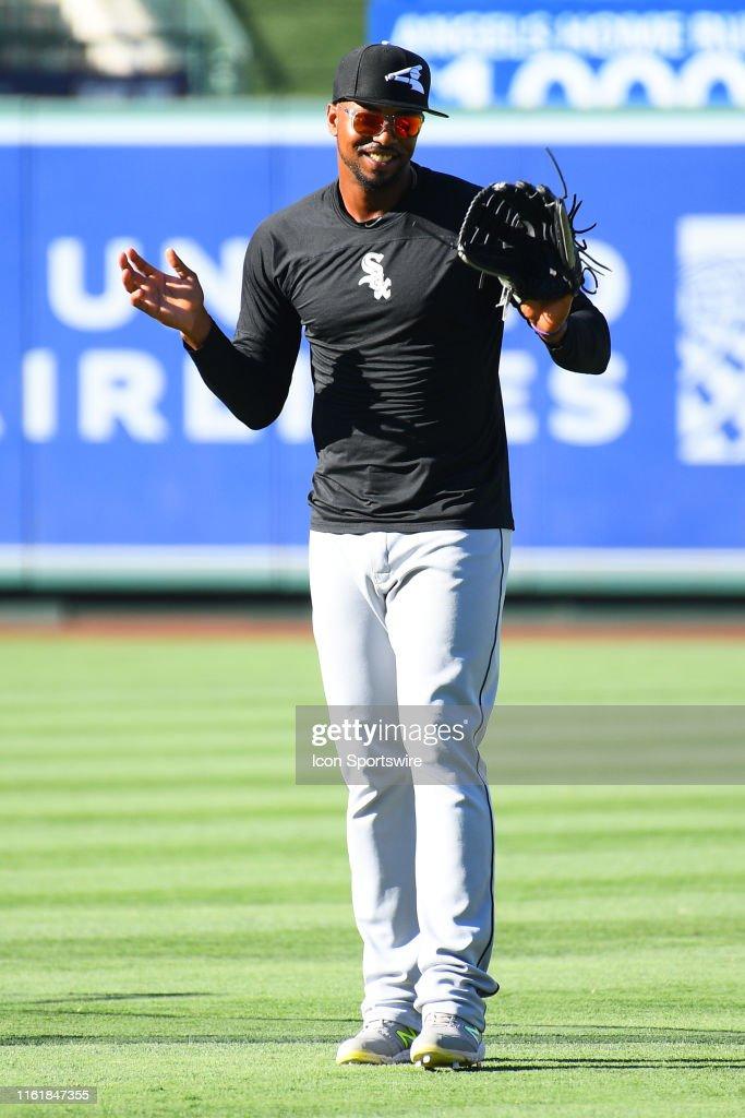 MLB: AUG 15 White Sox at Angels : Foto jornalística