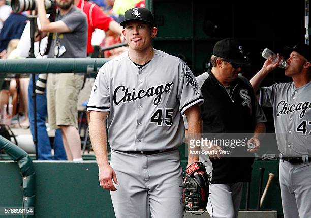 Chicago White Sox Pitcher Erik Johnson [8830] during a regular season MLB game between the Chicago White Sox and Texas Rangers at Globe Life Park in...