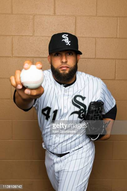 Chicago White Sox pitcher Kelvin Herrera poses for a portrait during the Chicago White Sox photo day on Wednesday Feb 20 2019 at Camelback...