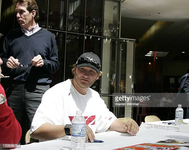 Chicago White Sox pitcher Mark Buehrle signs autographs today to support Organ Donation month at the State of Illinois building known as the James R...