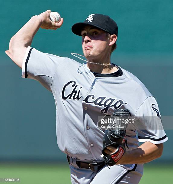 Chicago White Sox relief pitcher Addison Reed closes out the 9th inning for a 21 win during Sunday's baseball game against the Kansas City Royals on...