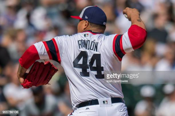 Chicago White Sox relief pitcher Bruce Rondon pitches during a game between the Minnesota Twins the Chicago White Sox on May 6 at Guaranteed Rate...