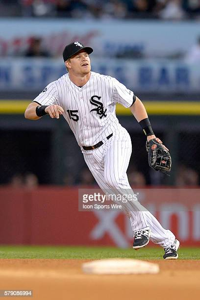 Chicago White Sox second baseman Gordon Beckham in action during a game between the Chicago White Sox and the Arizona Diamondbacks at US Cellular...
