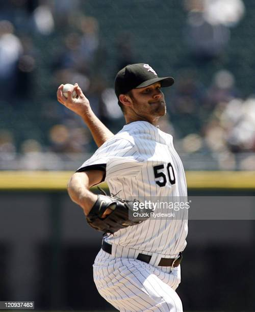 Chicago White Sox' Starter John Danks pitches during their game versus the New York Yankees May 16 2007 at US Cellular Field in Chicago Illinois The...