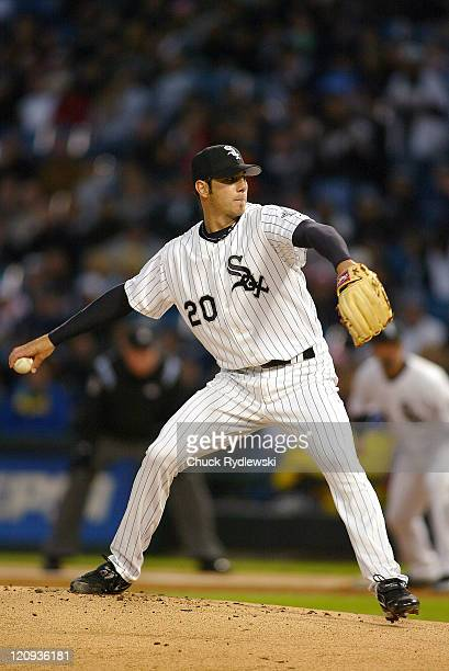 Chicago White Sox' Starter Jon Garland pitches during their game against the Kansas City Royals May 5, 2006 at U.S. Cellular Field in Chicago,...