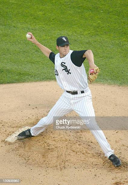 Chicago White Sox Starter, Jon Garland, pitches in the 1st inning during the game against the Toronto Blue Jays August 2, 2005 at U.S. Cellular Field...