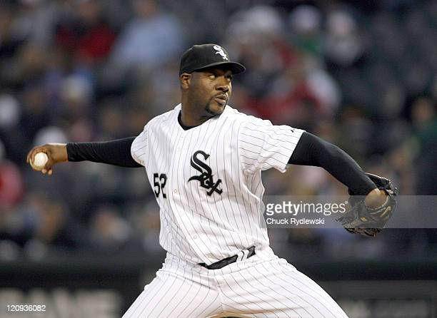 Chicago White Sox' Starter, Jose Contreras pitches in the 2nd inning during their game versus the Los Angeles Angels April 27, 2007 at U.S. Cellular...