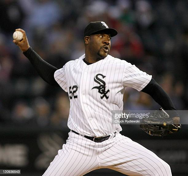 Chicago White Sox' Starter Jose Contreras pitches in the 2nd inning during their game versus the Los Angeles Angels April 27 2007 at US Cellular...