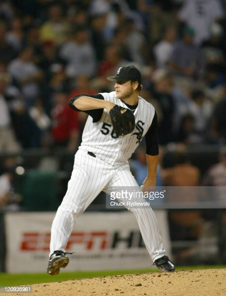 Chicago White Sox Starter Mark Buehrle pitches during the 2nd game of the ALDS against the Boston Red Sox October 5 2005 at US Cellular Field in...