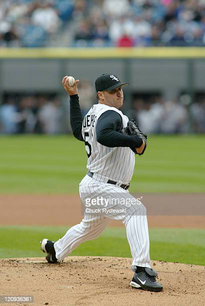 Chicago White Sox starter Mark Buehrle pitches during the game against their crosstown rival Chicago Cubs on May 19 2006 at US Cellular Field in...