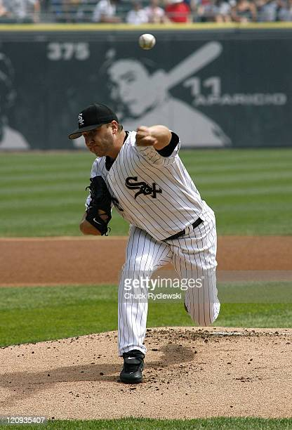Chicago White Sox' Starter Mark Buehrle pitches during their game against the Kansas City Royals August 17 2006 at US Cellular Field in Chicago...