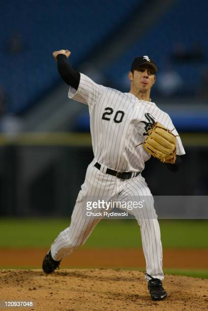 Chicago White Sox starting pitcher, Jon Garlnad, pitches during the game against the Texas Rangers May 17, 2005 at U.S. Cellular Field in Chicago,...