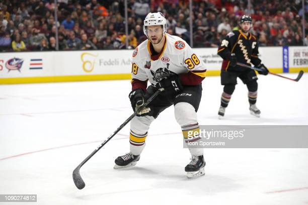 Chicago Wolves right wing Tomas Hyka on the ice during overtime of the American Hockey League game between the Chicago Wolves and Cleveland Monsters...