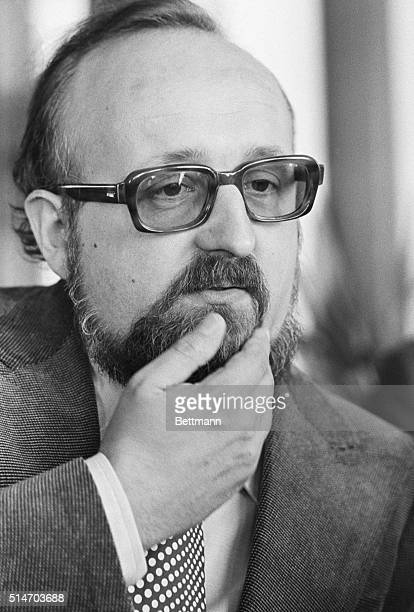 Poland's outstanding music composer Krzysztof Penderecki answers a question from newsmen after it was announced 5/16 that he was commissioned by the...