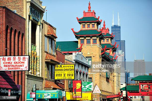chicago's chinatown - chinatown stock pictures, royalty-free photos & images
