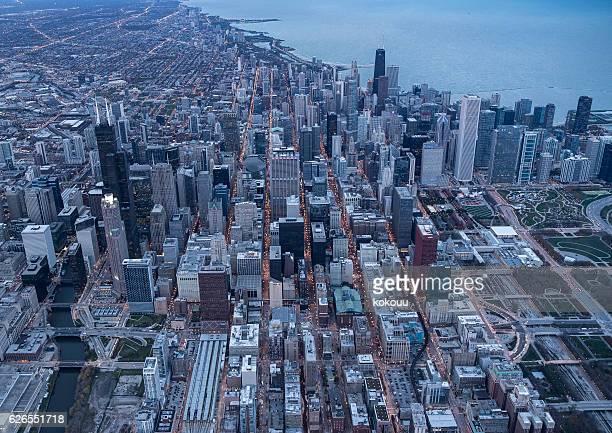 Chicago's famous skyscraper and stadium