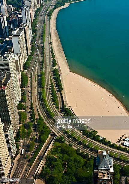 chicago's lake shore drive - ken ilio stock photos and pictures