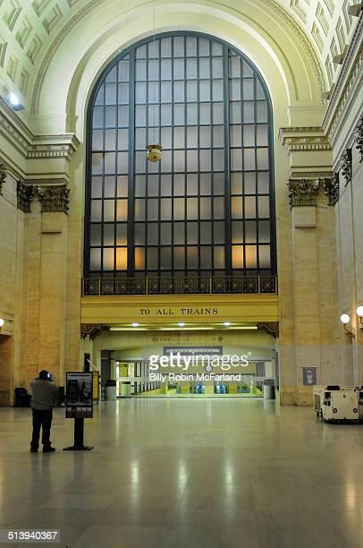 Chicago's Union Station Depot midnight
