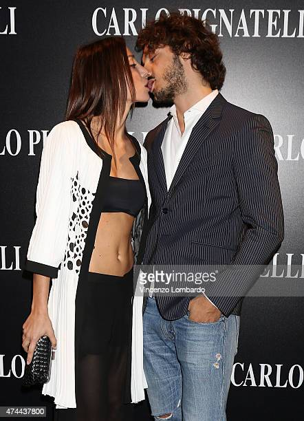 Chicca Rocco and Giovanni Masiero attend the Carlo Pignatelli Fashion Show 2016 on May 22 2015 in Milan Italy