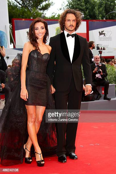 Chicca Rocco and Giovanni Masiero attend the opening ceremony and premiere of 'Everest' during the 72nd Venice Film Festival on September 2 2015 in...