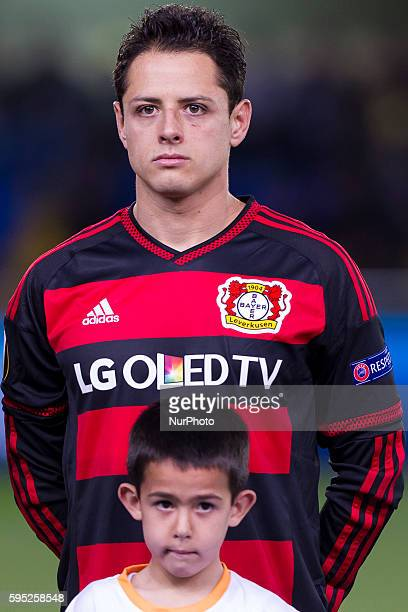 Chicharito Hernandez of Bayer 04 Leverkusen during UEFA Europa League Round of 16 first legs match between Villarreal CF and Bayer 04 Leverkusen at...