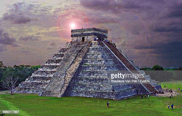 Chichen Itza At Dusk