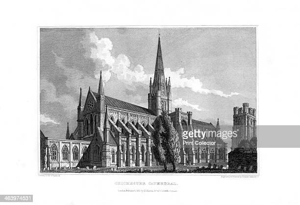 Chichester Cathedral Chichester West Sussex 1829 The cathedral of the Holy Trinity at Chichester was founded in 1075 after the seat of the bishop was...