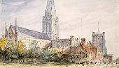 Chichester Cathedral' Sussex circa 1796-1837