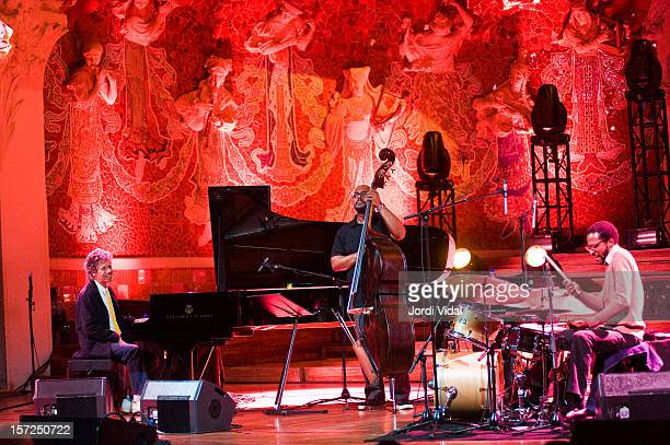 Chick Corea Christian McBride and Brian Blade Chick Corea Trio perform during VollDamm Festival Internacional de Jazz de Barcelona at Palau De La...