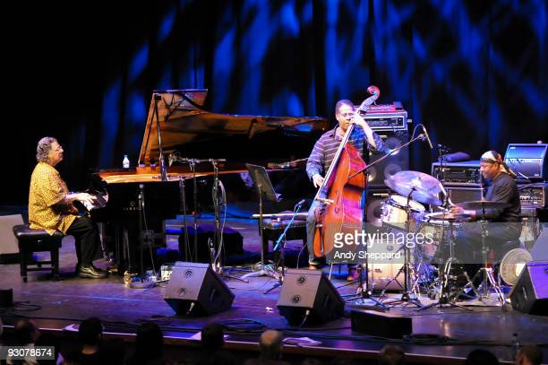 Chick Corea, Stanley Clarke and Lenny White perform on stage at The Barbican as part of the London Jazz Festival 2009 on November 15, 2009 in London,...