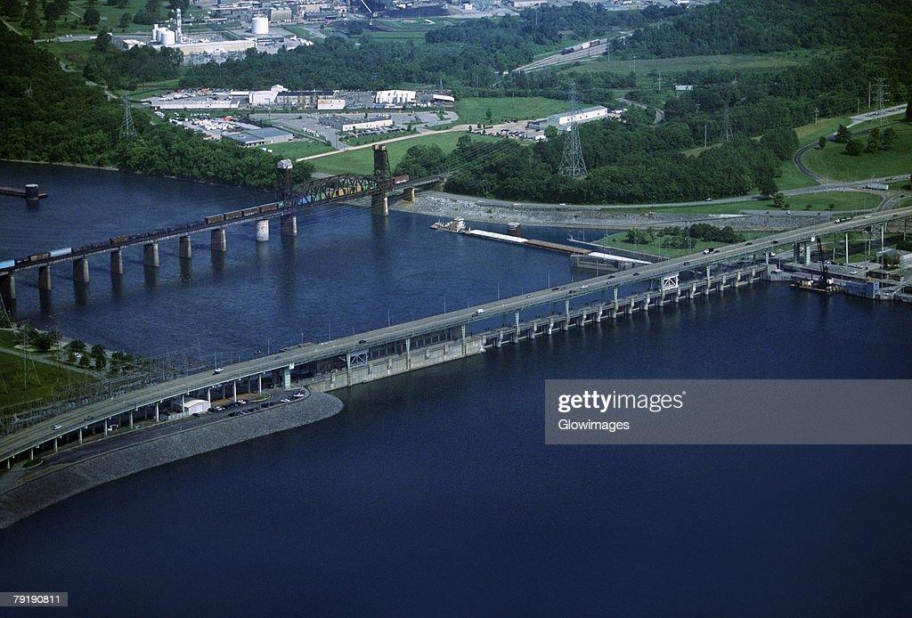 Chickamauga hydroelectric dam, Tennessee, USA : Stock Photo