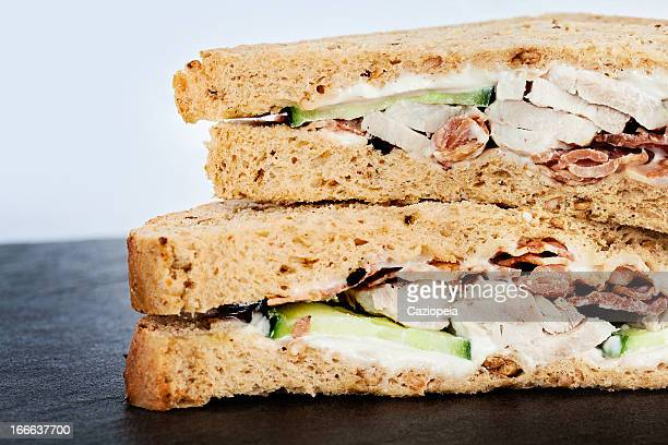 Chicken and Bacon Salad Sandwich Detail