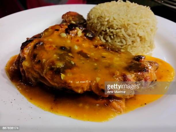 Chicken And Lemon Sauce With Rice
