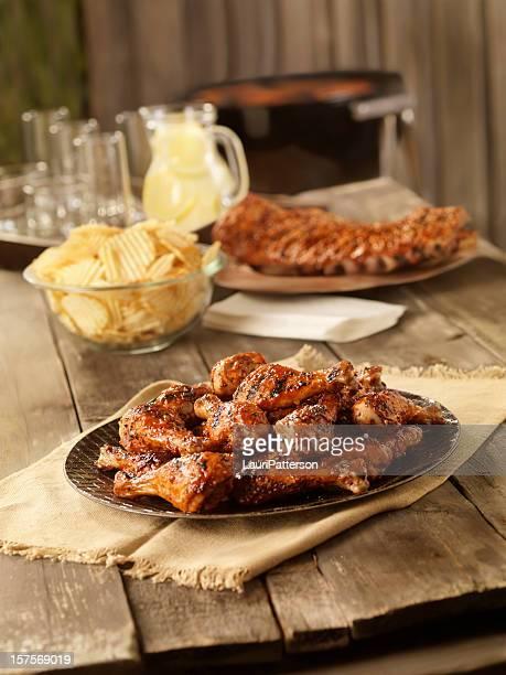 BBQ Chicken and Pork Ribs