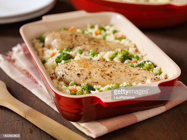 Gratin de poulet et de riz