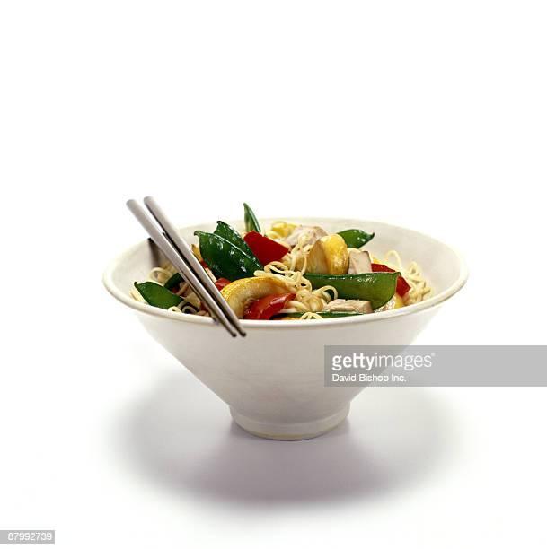 Chicken and vegetable ramen noodles