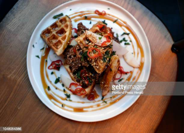 Chicken and waffles at Eaux Soul Provisions Wednesday October 3 2018