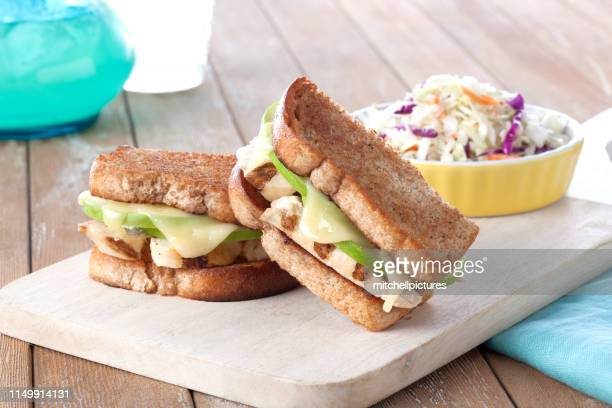 chicken apple sandwich - sandwich stock pictures, royalty-free photos & images
