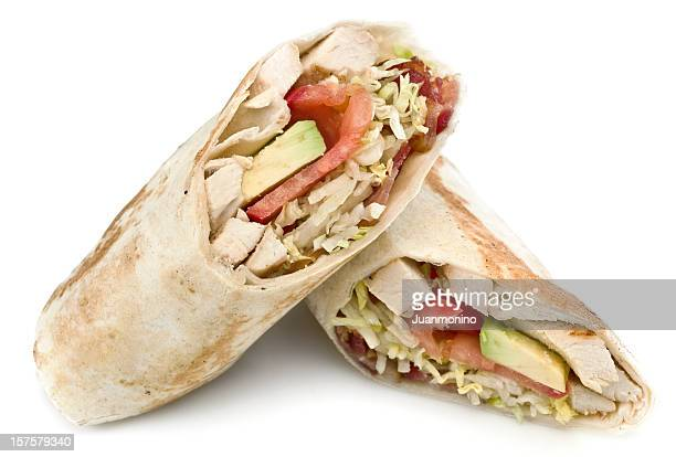 Chicken, Bacon and Avocado Wrap Sandwich