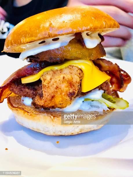 Chicken bacon cheese burger