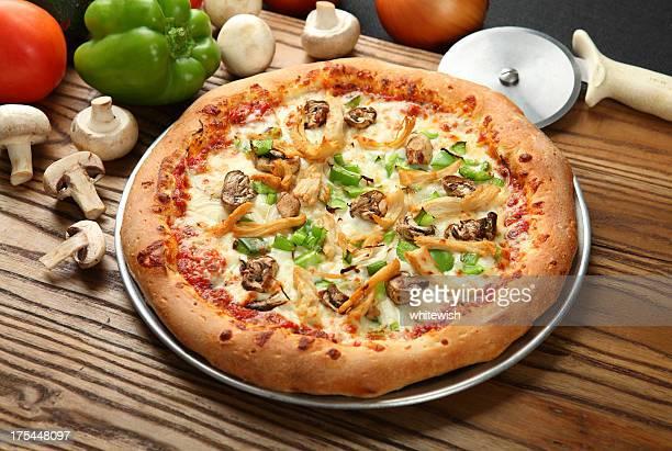 バーベキューチキンピザ