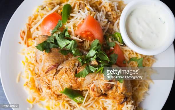 chicken biryani. - biryani stock photos and pictures