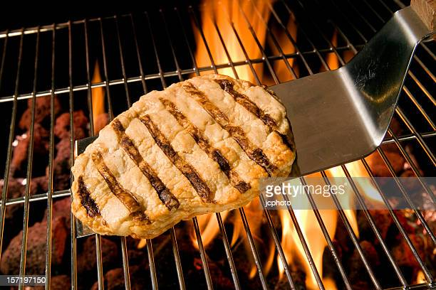 Chicken Breast and flames